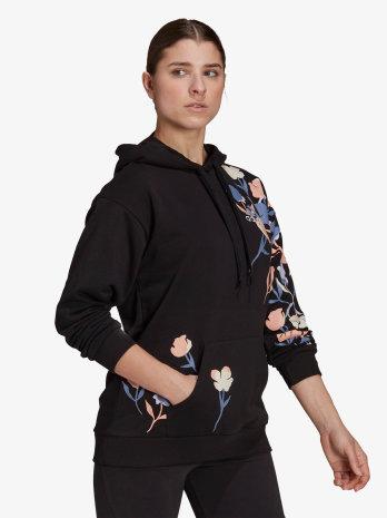 Majica dugi rukav FLORAL HOODIE